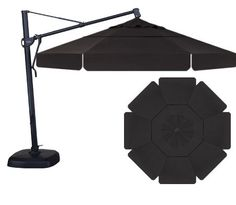 UMBRELLA - 11' CANTILEVER (BLACK/BLACK)