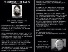 Irene Sendler- The True Nobel Prize Winner