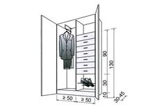 Dress room plan wardrobes 38 Ideas for 2020 Dimension Dressing, Bedroom Wallpaper Red, Bedroom Colour Schemes Warm, Girls Headboard, Industrial Style Bedroom, Bedroom Organisation, Small Curtains, Cabinet Dimensions, Wardrobe Storage