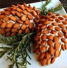 No Link!!! Make a pinecone spread with almonds and cheese.