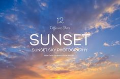Sunset Sky Backgrounds by mamounalbibi on Envato Elements Design Art, Graphic Design, Sky Landscape, Dark Skies, Sunset Sky, Texture Design, Background S, Night Skies, Designs To Draw