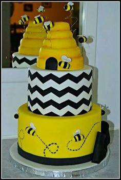Bubble bee babyshower cake