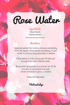 DIY Rose Water for beauty and magick. Witchcraft Spell Books, Wiccan Spell Book, Magick Spells, Moon Spells, Witch Spell, Magic Herbs, Herbal Magic, Water Spells, Witchcraft Spells For Beginners