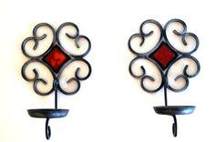 WALL SCONCES Swedish Mid-century design Black by vintagdesign