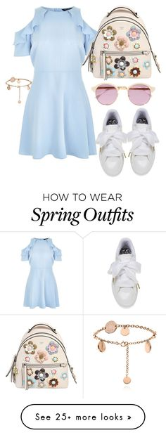"""Spring outfit"" by stunnerjoy on Polyvore featuring New Look, Fendi and Sheriff&Cherry"