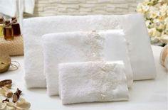 Bathroom Towels - Elegance Linara#towel #bathroom #homedecor #gift #cotton #bamboo  #luxury #home #design #bridal #wedding #white