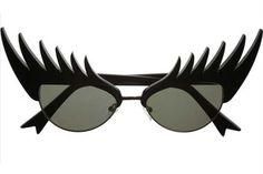 Objetos locos: lentes con diseño  Un diseño muy original para aquellas mujeres que no quieren llevar máscara de pestañas.