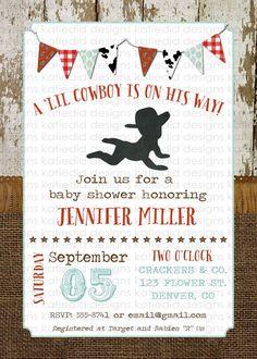 cowboy baby shower invitation birthday sprinkle by