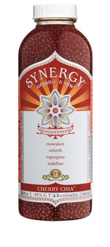 Synergy Cherry Chia Kombucha... a nutritional and probiotic powerhouse! So yummy, but the texture does take some getting used to. <3