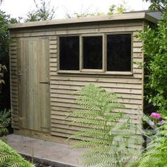 Sussex Pent Garden Shed Pressure Treated #EasyPin
