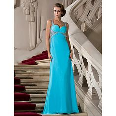 A-line Sweetheart Floor-length Chiffon Evening/Prom Dress – AUD $ 194.08
