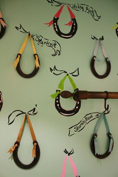 Horseshoes on Ribbons for a little girl's room