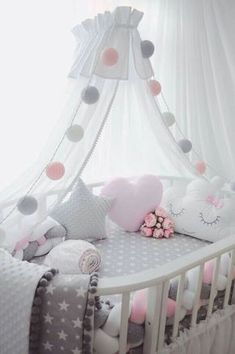 Pottery Barn Kids' bedroom furniture is designed for quality and safety. Find furniture for kids and babies to decorate with timeless style. Changing Tables Baby Bedding and Nursery Lighting at Walmart Baby Furniture Sets - June 15 2019 at Baby Room Design, Baby Room Decor, Nursery Room, Nursery Gray, Child's Room, Pink And Grey Nursery Baby Girl, Nursery Decor, Room Baby, Baby Nursery Ideas For Girl