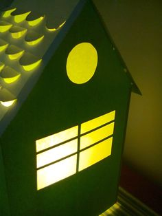 Paper-cut lamp. House. By Claudia Polliotti.