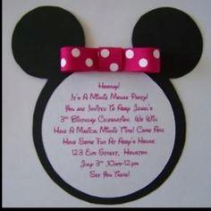 minnie mouse invites, easy diy