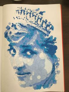 Another #querkles from the book Querkles by Thomas Pavitte. #querkle. My version of Lady Di in blue.
