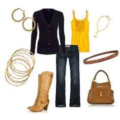 fall styles for 2012 - love the touch of yellow