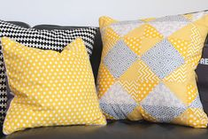 DIY / Patchwork Kissen / patchwork pillow / was eigenes Blog