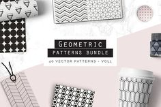 Geometric Patterns - vol1 by Youandigraphics on @creativemarket