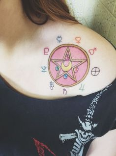 "hana–kotoba: ""My sailor moon tattoo Sailor Moon Tattoos, Sailor Moons, Sailor Moon Symbols, Anime Tattoos, Body Art Tattoos, Small Tattoos, Cool Tattoos, Tatoos, Kawaii Tattoos"