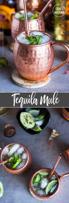 Tequila Mule aka Mexican Mule The classic cocktail made with tequila. It tastes even better. Tequila type tips and more. Refreshing Cocktails, Classic Cocktails, Fun Cocktails, Cocktail Recipes, Drink Recipes, Tequila Types, Best Tequila, Holiday Drinks, Summer Drinks