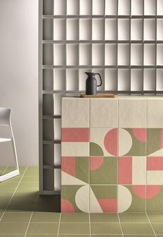 PUZZLE / Olive + Murano + Powder by Mutina