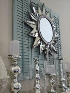 DIY:: Charming Mantel With Four dollar Goodwill Shutters (Great Tutorial)
