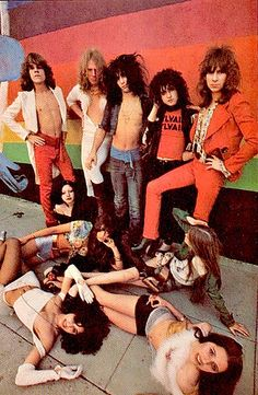 New York Dolls and fans 1974