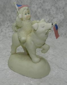 2003 Dept 56 Show Your Stripes Snowbabies Husky Malamute Dog American Flags | eBay