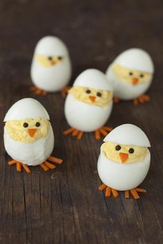 An egg-citing Easter appetizer- made them yesterday. Super cute