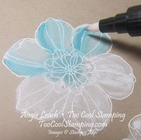 White Washing Technique Tutorial ~TooCoolStamping.com