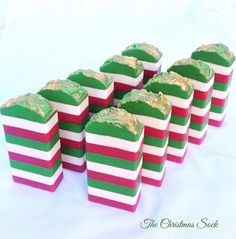 Christmas soap by earthsrawbeauty