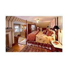 Kingsleigh Inn Rooms, Maine Bed and Breakfast Lodging ❤ liked on Polyvore featuring home, furniture, lodge style furniture and lodge furniture