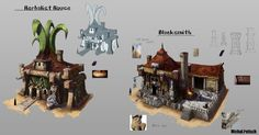 Herbalist and Blacksmith houses by Narog-art on DeviantArt