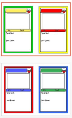 Printable Trading Card Template  Click Here TradingCard