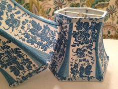 Lampshade Lady's Favorite Blue French Floral by lampshadelady @ lakes lampshades $68each.