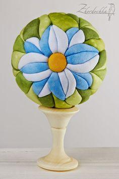 """На жёрдочке: Кимекоми шар """"Хризантема"""" / Kimekomi ball Сhrysanthemum"""