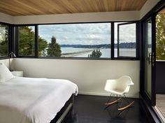 Master Bedroom-it doesn't have to be big if you have an awesome view and balcony!!