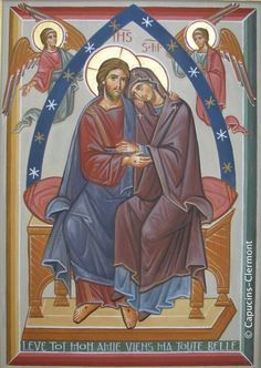The Lord and His Mother. Religious Images, Religious Icons, Religious Art, Byzantine Icons, Byzantine Art, Mary Magdalene And Jesus, Good Shepard, Holy Art, Christian Artwork