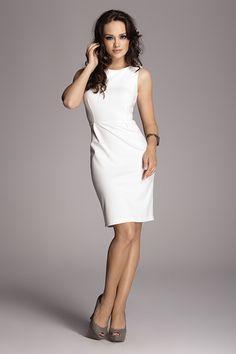 Sukienka klasyczna M079 ecri w FIGL  na DaWanda.com
