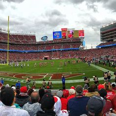At the game. #49ers