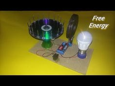 Free Energy light blub device with magnet 100% self running Dc motor at home - New idea - YouTube