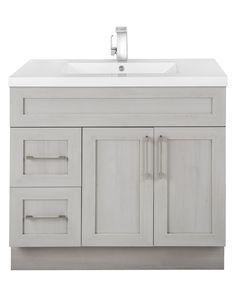 Modern Bathroom Vanities Eviva Lugano 36 White Vanity With Pinterest