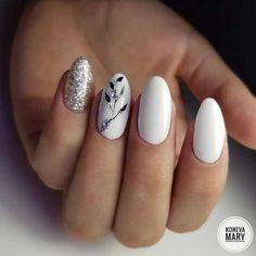 54 Tropical Nail Art Designs For Summer Beach Nail Designs, Gel Nail Designs, Nails Design, Winter Nails, Summer Nails, Blue Nails, My Nails, Beach Nails, Dream Nails