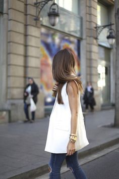 white + tailored + vest