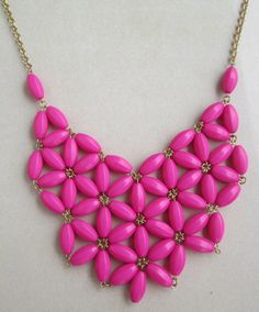 Inspired bib statement necklace Beaded necklace by RedMarbleJewel, $13.00