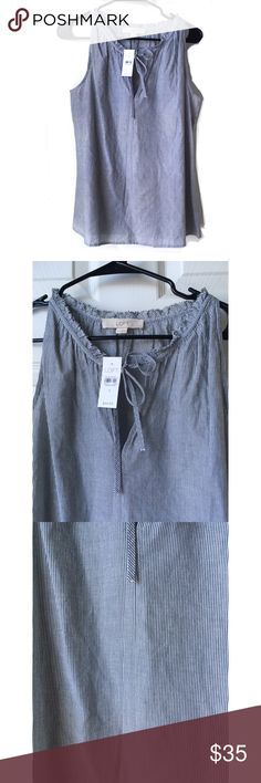 42290f05cb LOFT Sleeveless Top Size S Length  24 inches Pit to pit  18.5 inches V