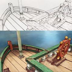 Bakgrunner fra vår nye tegnefilm om Geitekillinge som kunne telle til ti. Backgrounds from our new animated short film.