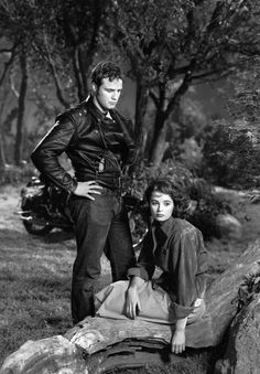 """""""I wish I was going someplace. I wish you were going someplace. We could go together."""" Brando and Murphy in The Wild One"""