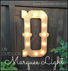 DIY Outdoor Marquee Light :: Hometalk